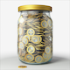 Filling Glass Jar with Coins - VideoHive Item for Sale