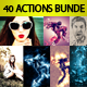 Top 40 Photoshop Actions Bundle  - GraphicRiver Item for Sale