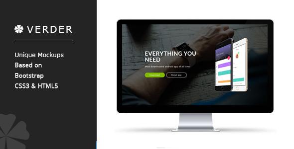 Verder – Responsive App Landing Page