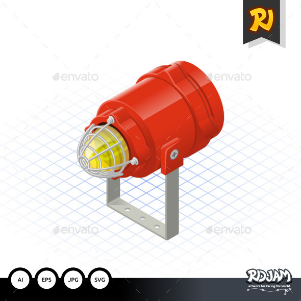 Isometric Beacon a Safety Equipment - Man-made Objects Objects