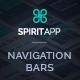 SpiritApp Navigation Bars for Landing Pages - GraphicRiver Item for Sale