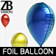 Waterdrop Foil Balloon - 3DOcean Item for Sale
