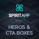 SpiritApp Heros and CTA Boxes - GraphicRiver Item for Sale