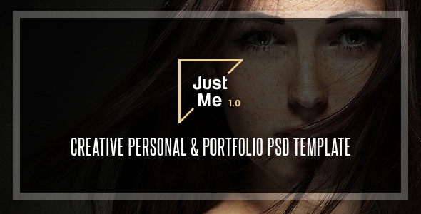 Just Me | Creative Personal & Portfolio PSD Template - Portfolio Creative