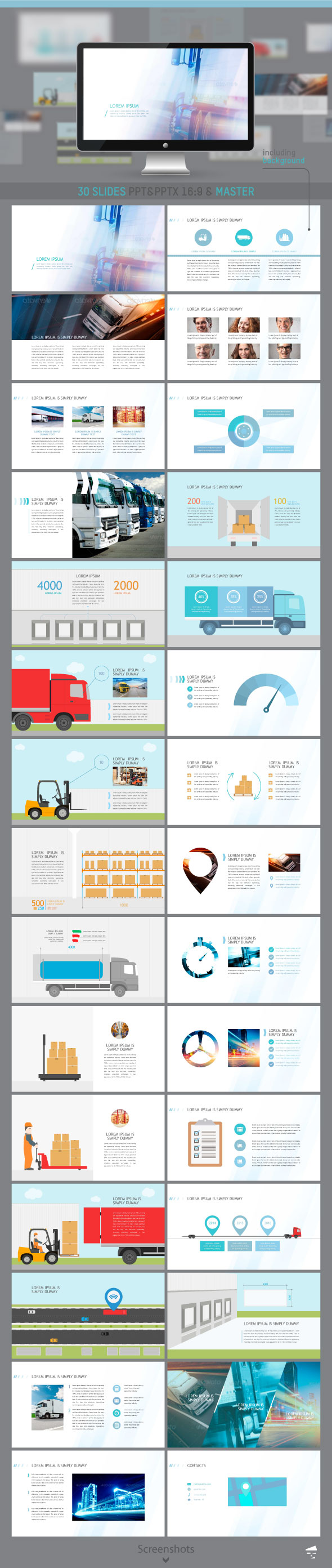 Presentation of cargo - Business PowerPoint Templates
