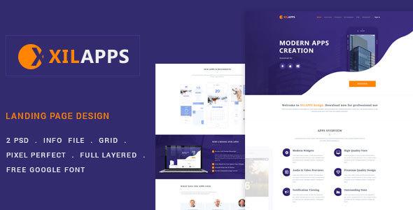 XILLAPPS – PSD App Landing Template
