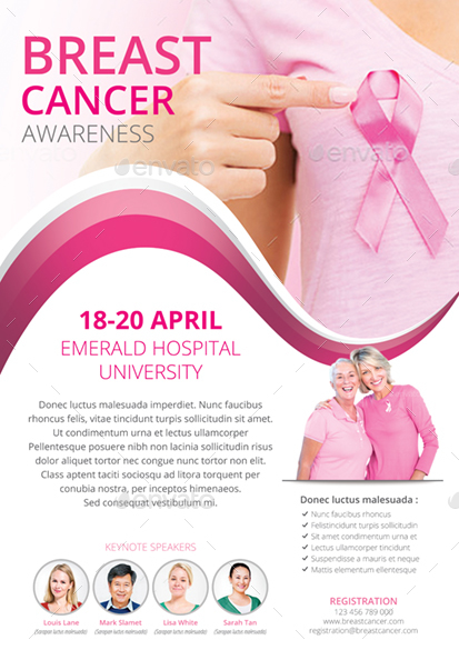 breast cancer flyer by monggokerso graphicriver