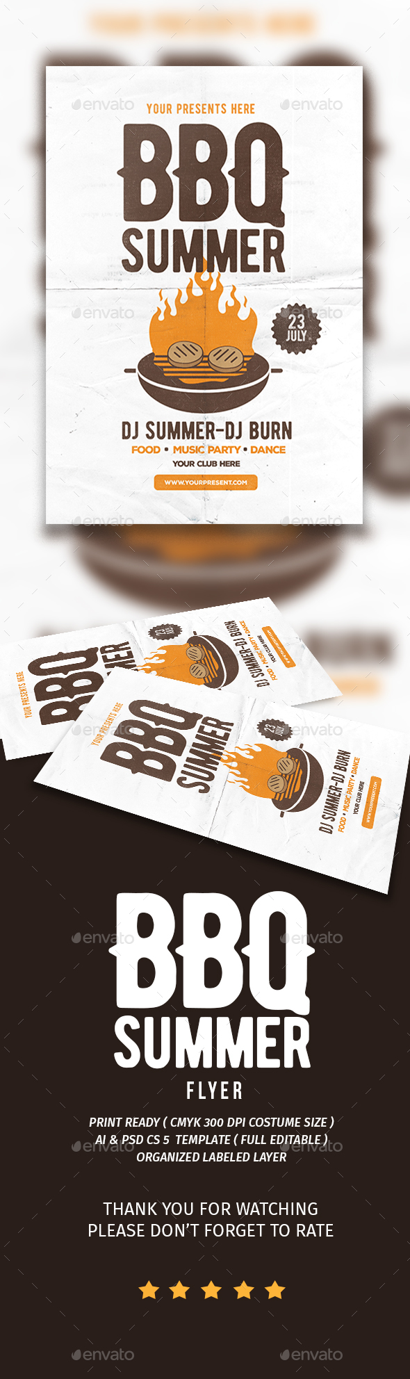 BBQ Summer Flyer - Flyers Print Templates