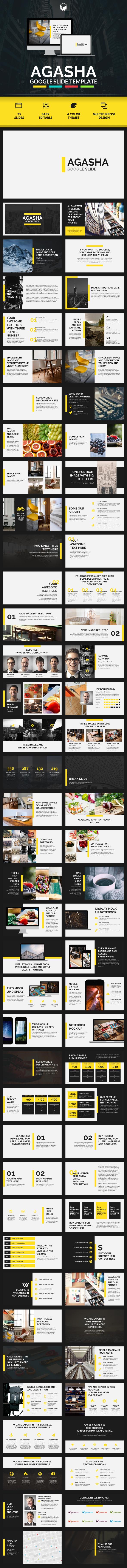 AGASHA - Google Slide Template by descarteshouston | GraphicRiver
