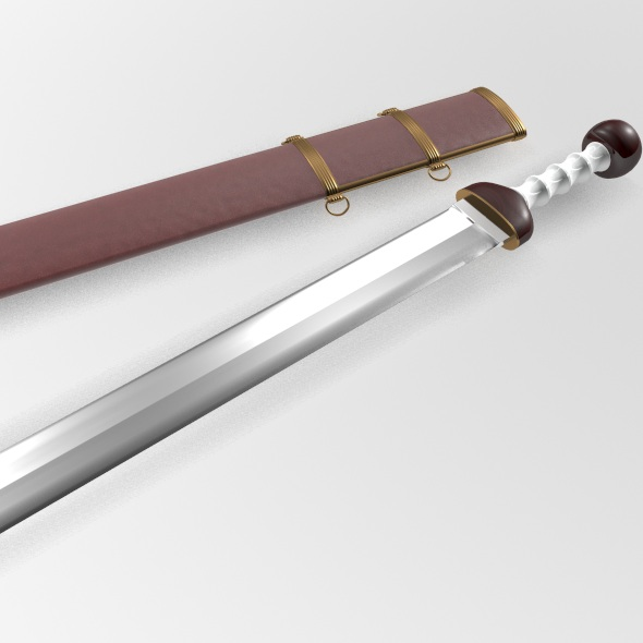Roman Gladius Sword with Scabbard - 3DOcean Item for Sale