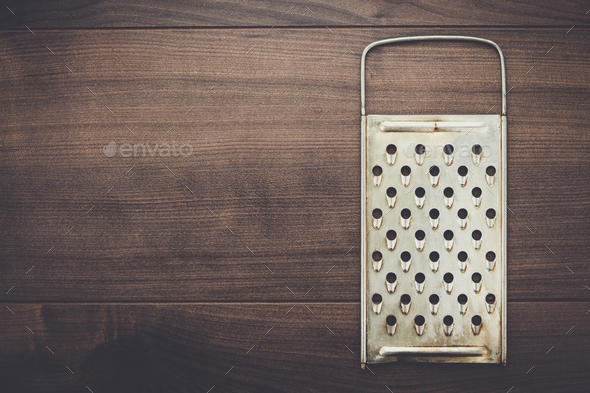 natural aged old rusted grater - Stock Photo - Images