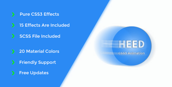 Heed - Pure CSS3 Animation Effects - CodeCanyon Item for Sale
