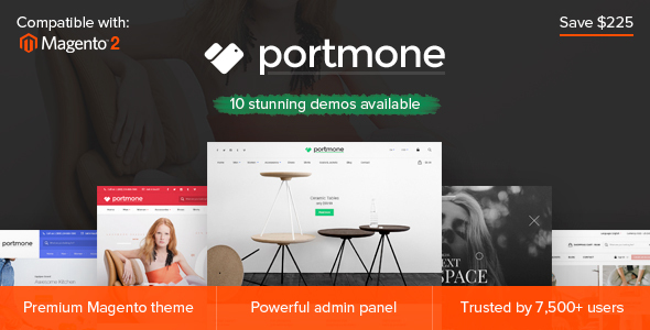 Portmone – Multi-Purpose Responsive Magento 2 and Magento 1 Theme