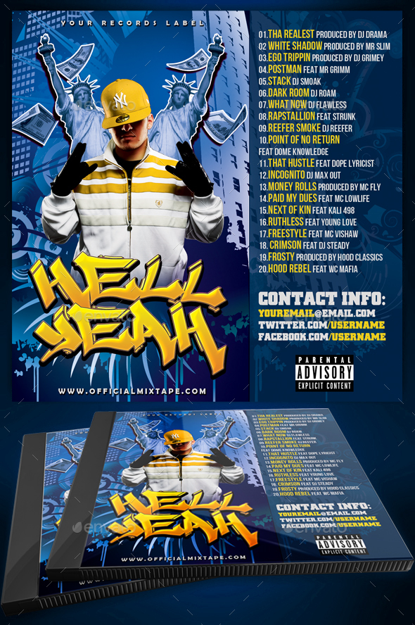 Mixtape / CD Cover Template - Hell Yeah by Yellow_Emperor ...