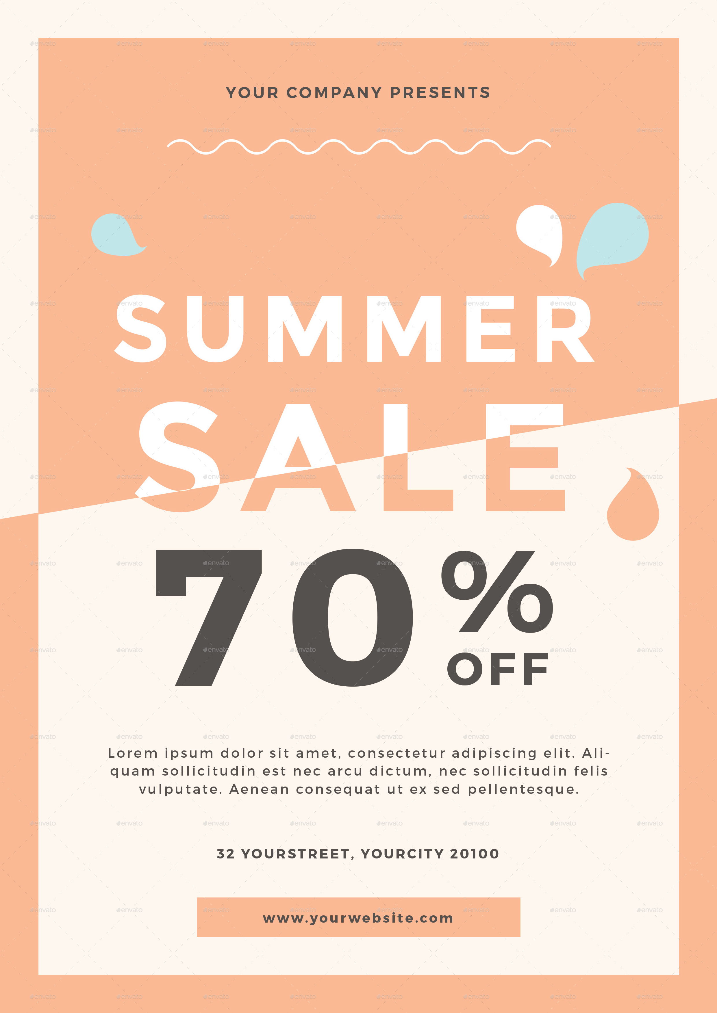 summer sale flyer by infinite78910 graphicriver