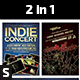 2 in 1 Indie Concert Flyer - GraphicRiver Item for Sale
