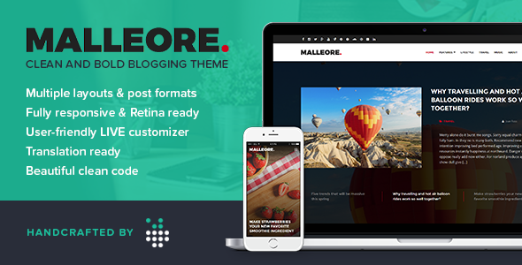 Malleore – Clean and Bold WordPress Blogging Theme
