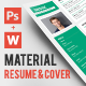 Material CV with Cover Letter - GraphicRiver Item for Sale