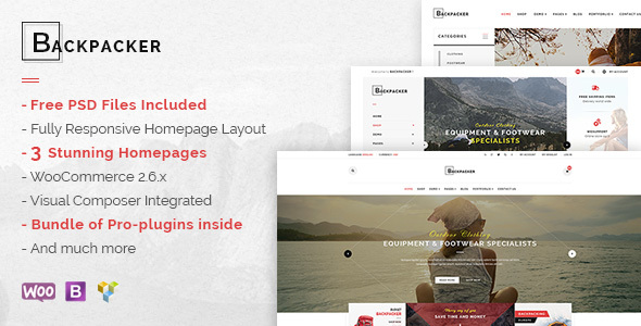 Backpacker – Responsive WooCommerce WordPress Theme