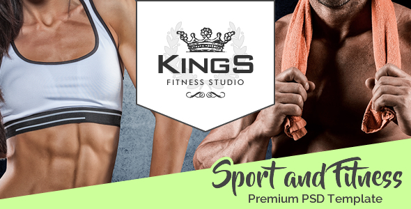 Kings – Gym, Fitness And Sport School PSD Template