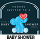 Modern Baby Shower Invitation  - GraphicRiver Item for Sale