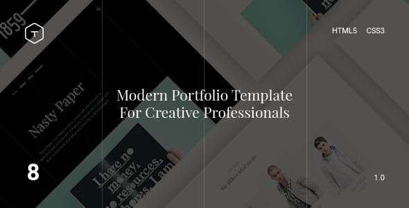 Eight – Responsive Portfolio HTML5 Template