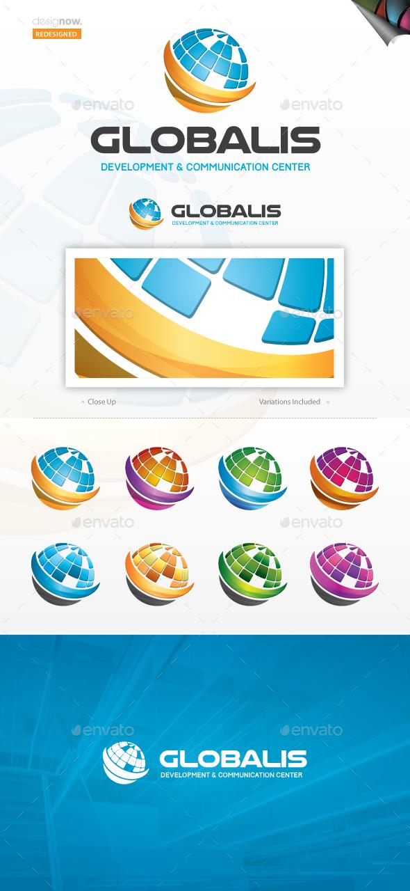 Global Data Logo - Symbols Logo Templates