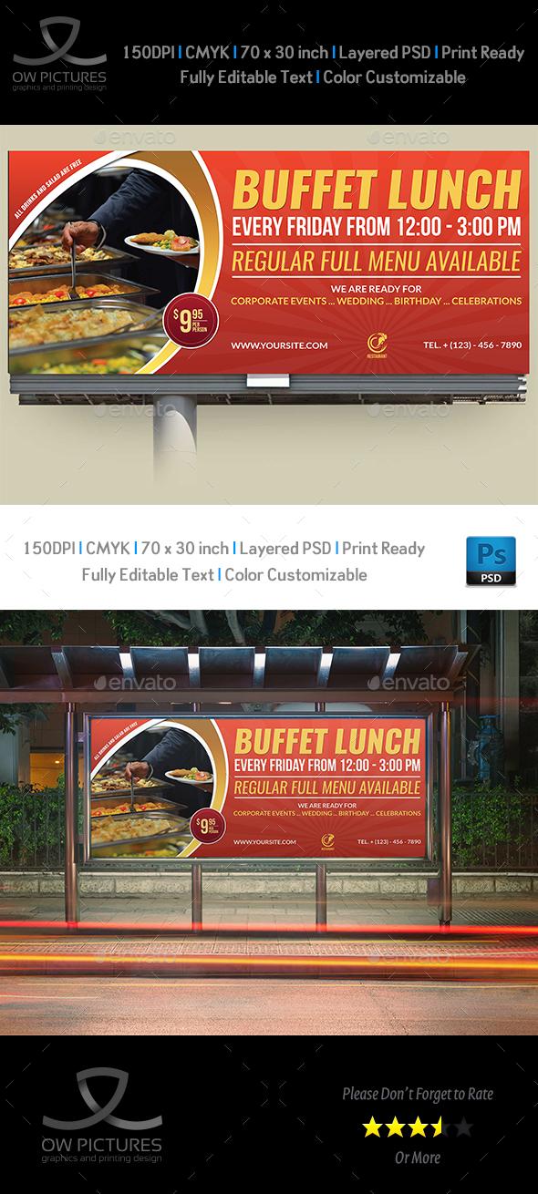Restaurant Billboard Template Vol.6