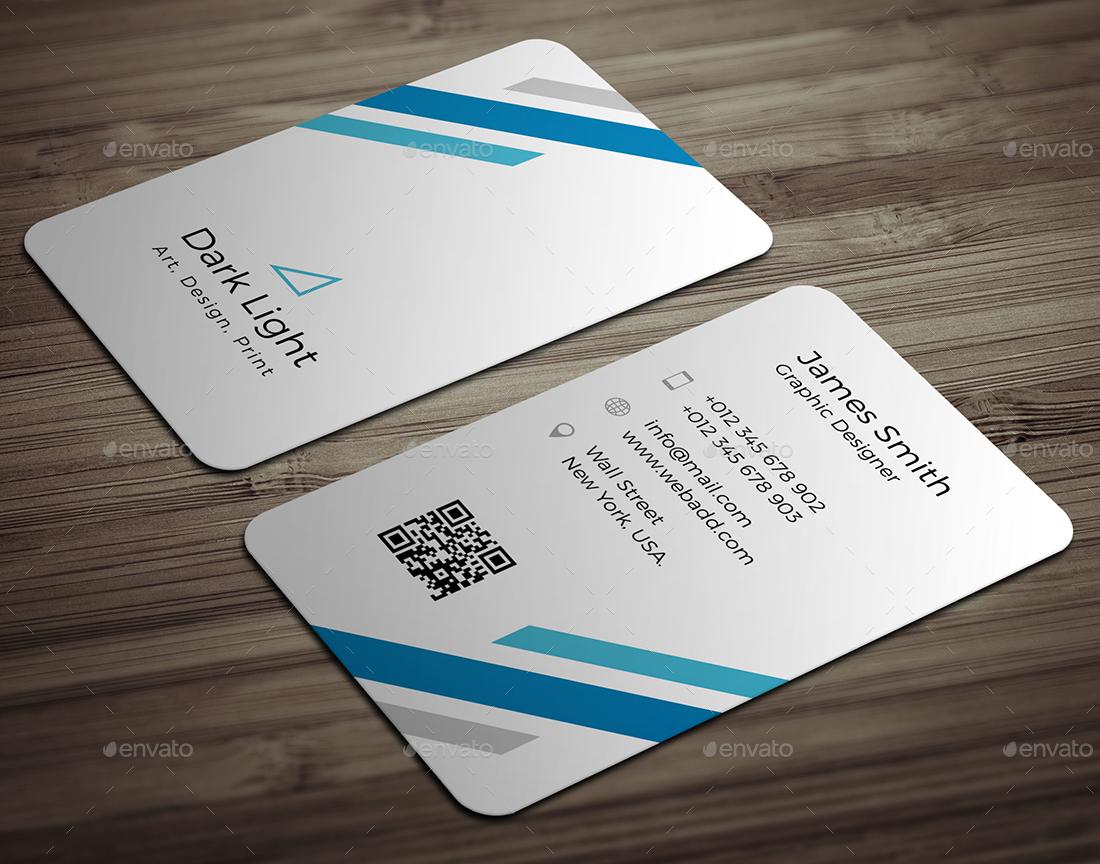 portrait business card template