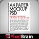 A4 Paper / Poster / Flyer Mockup Design Vol - 2 - GraphicRiver Item for Sale