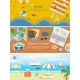Beach Holidays In Flat Design Detailed Web Banners - GraphicRiver Item for Sale