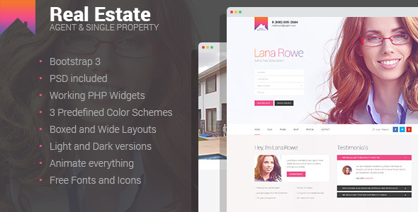 Real Estate – Agent & Single Property HTML template
