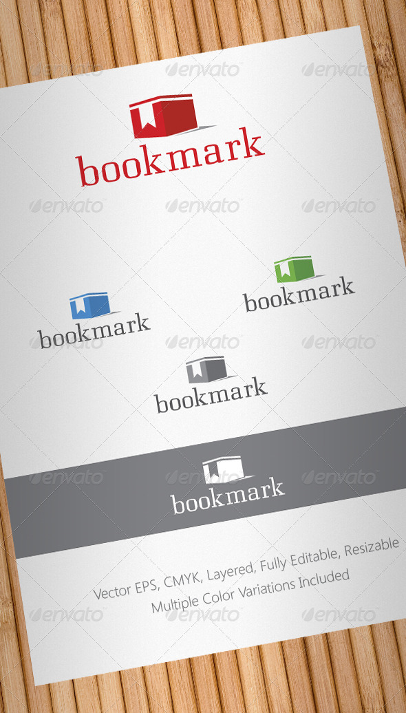 Bookmark Box Logo Template - Objects Logo Templates
