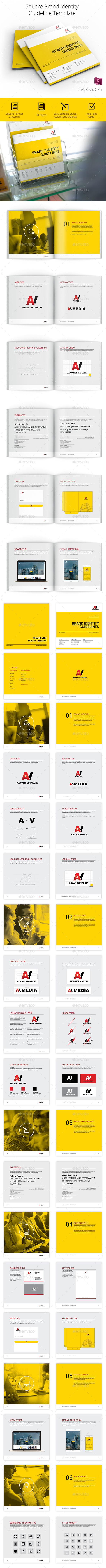 Square Brand Identity Guidelines - Informational Brochures