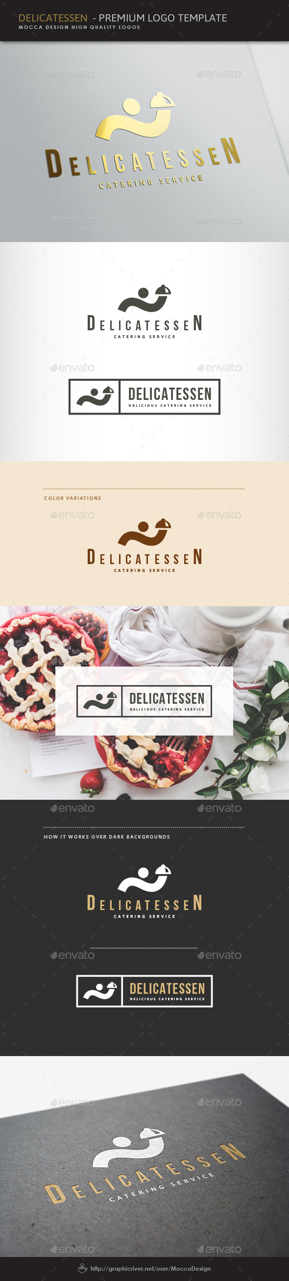 Delicatessen Logo - Food Logo Templates