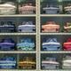 Neat stacks of folded clothing on the shop shelves - PhotoDune Item for Sale