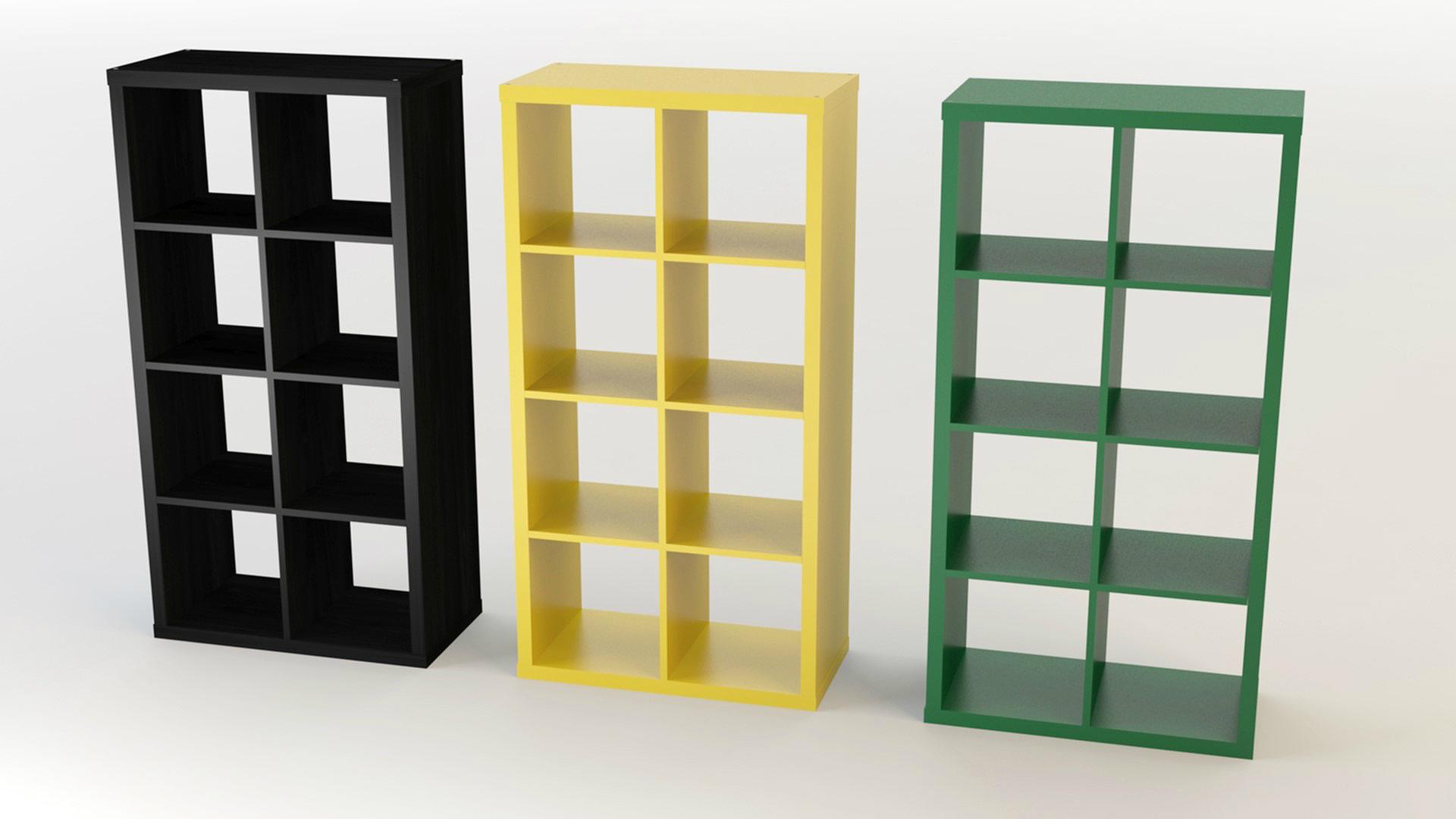 Ikea Kallax Shelves by s_i_S_c_o | 3DOcean