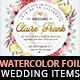 7 Watercolor Foliage Wedding Items - GraphicRiver Item for Sale