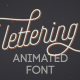Animated Lettering Font - VideoHive Item for Sale
