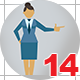 Business People Icons Woman for Infographic Part 3 - VideoHive Item for Sale