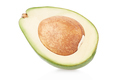 Avocado half on white, clipping path - PhotoDune Item for Sale