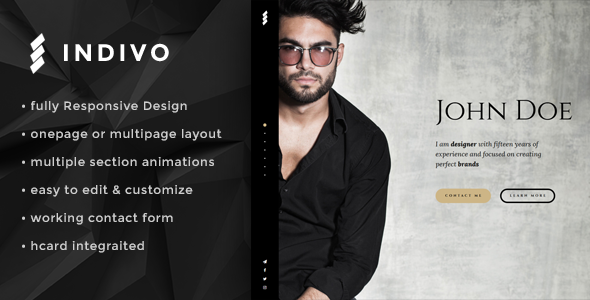 Indivo Onepage Personal Template
