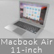 Macbook Air 11-inch - 3DOcean Item for Sale