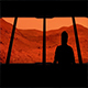 Astronaut Looks Out At Mars - VideoHive Item for Sale