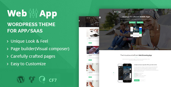 Webapp - App - Saas WordPress Theme - WordPress