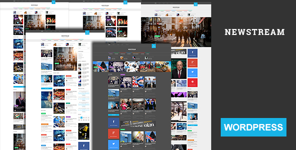 Newstream - Magazine & Blog Bootstrap 3 Responsive WordPress Theme