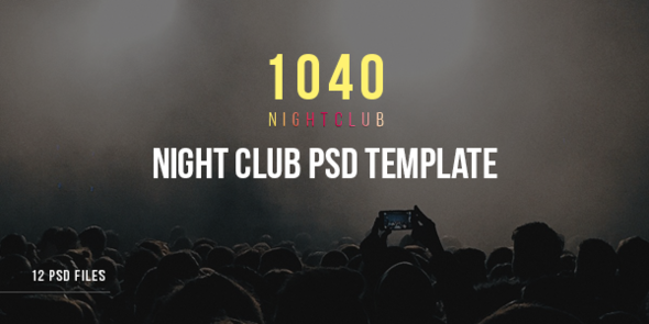 1040 Night Club – DJ, Party, Music Club PSD Template