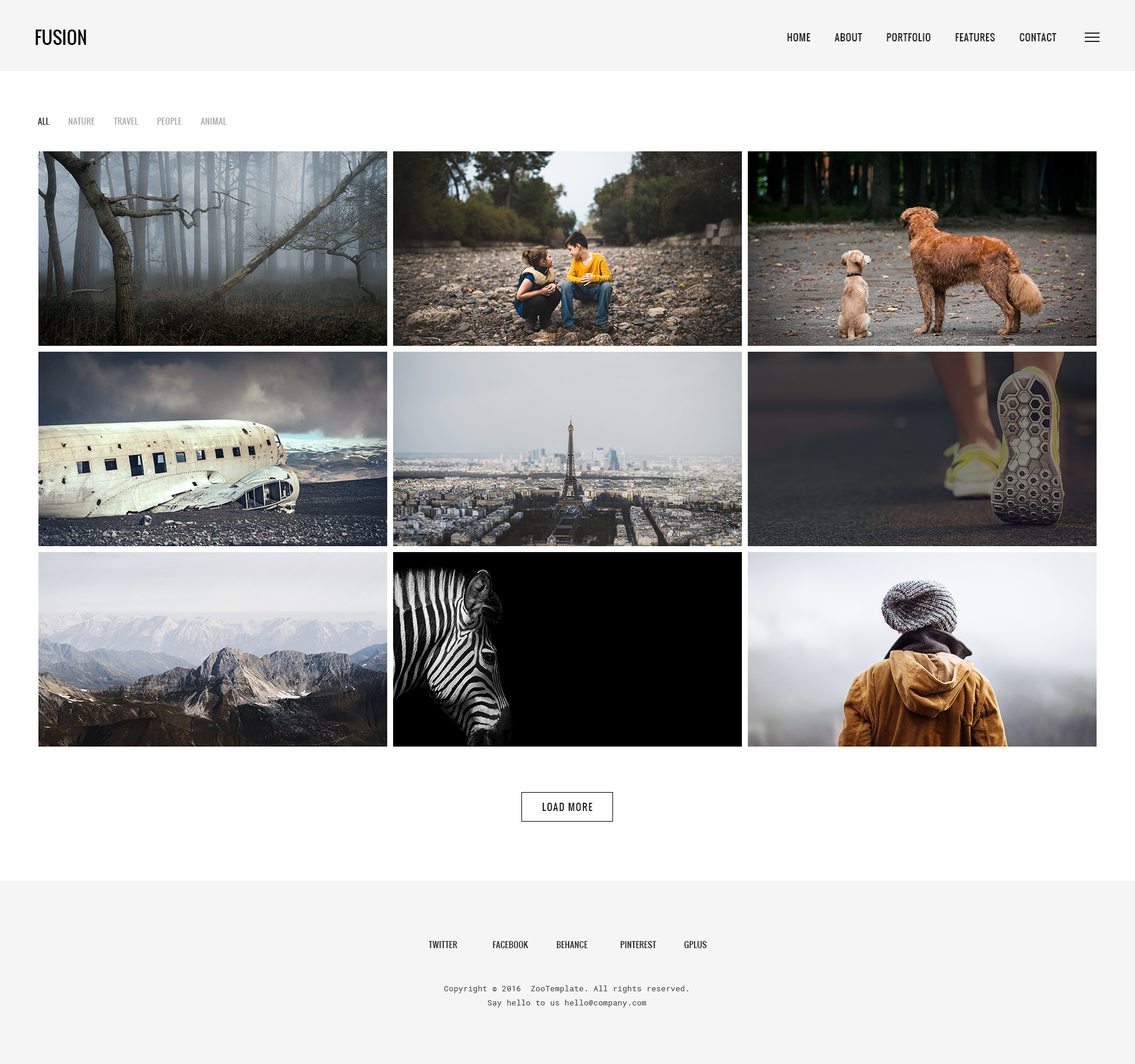 Fusion - Photography & Portfolio PSD Template by clevertheme ...