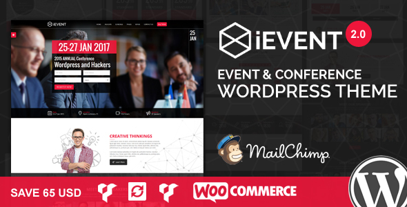 iEvent - Event & Conference WordPress Theme