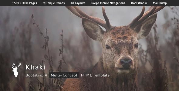 Khaki – Multi-Concept Bootstrap 4 HTML Template